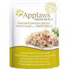 Applaws Tender Chicken with Lamb in Jelly Pouch 16x70g