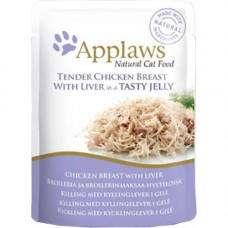 Applaws Tender Chicken with Liver in Jelly Pouch 16x70g
