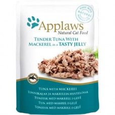 Applaws Tuna with Mackerel in Jelly Pouch 16x70g