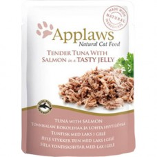 Applaws Tender Tuna with Salmon in Jelly Pouch 16x70g