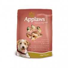 Applaws Dog Pouches Chicken and Beef 12x150g