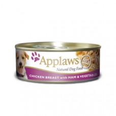 Applaws Cans Chicken Breast with Ham and Veg 16x156g