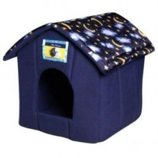 Ancol House Pet Bed - Blue Moon and Stars