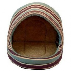 Animate Hooded Cat Bed Brown Stripe 50cm