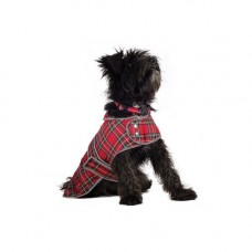 Ancol Highland Red Tartan Coat - Small