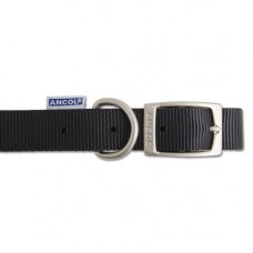 Ancol Heritage Nylon Dog Collar Black, 16 Inch/40cm