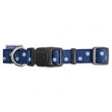 Ancol Vintage Polka Collar Navy 20-30cm