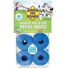 Bags On Board Refill Waste Poop Bags - Blue 60s